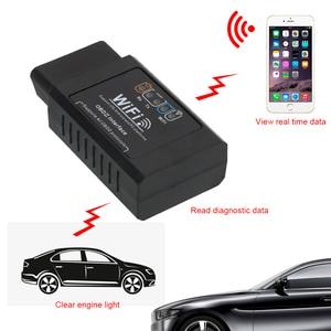 Image 4 - Herramienta de diagnóstico OBD2 para coche, escáner automotriz para comprobar la luz del motor, para iOS y Android, Detector OBDII, ELM327, WIFI