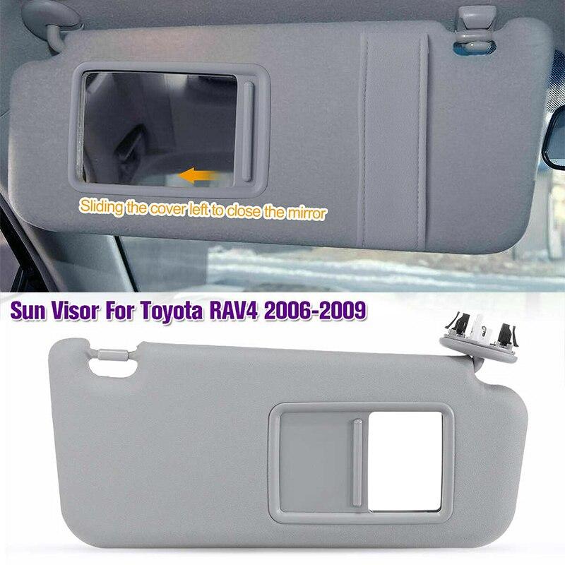 1PCS For Toyota RAV4 2006 2007 2008 2009 2010 20112012 13 Car Interior Front Left / Right Sun Visor Panel Sunvisor Makeup Mirror