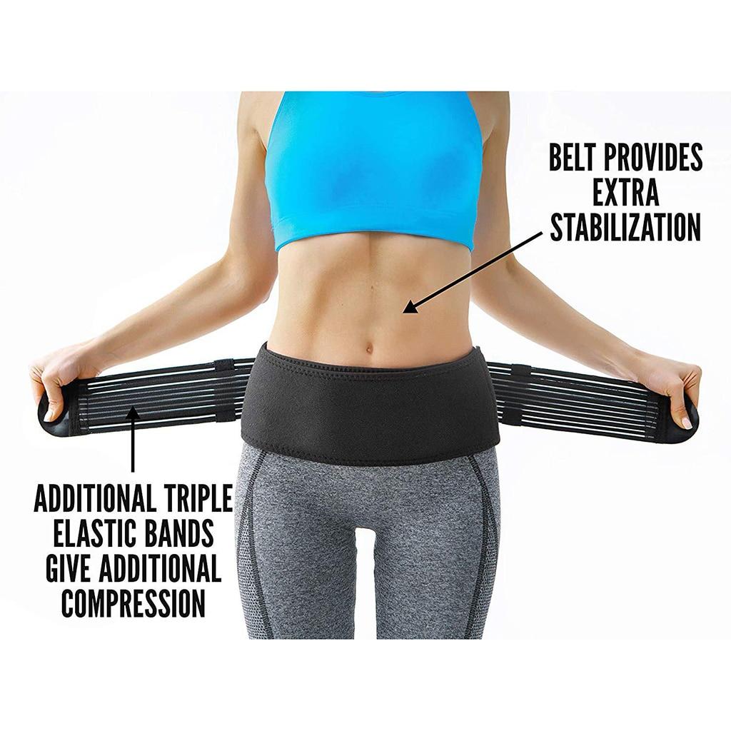 Unisex Sacroiliac SI Joint Hip Belt Anti-Slip Pelvic Sacral Lumbar Support Brace Lumbar Sacral Belly Band Reduce Sciatic