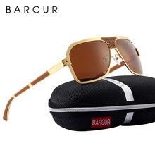 BARCUR Black Glasses Male Brand Designer Driving Sunglasses Men Polarized Sun Glasses Men Accessories oculos de sol