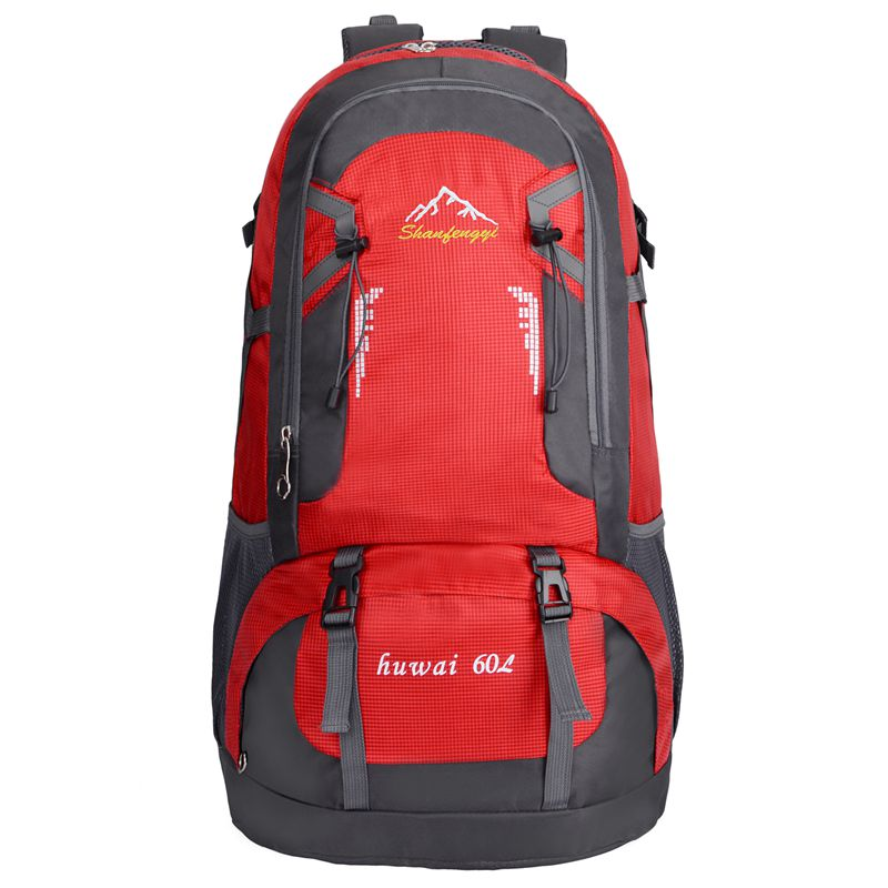 60L Waterproof Outdoor Backpack Sports Bag For Hiking Travel Mountaineering Rock Climbing Trekking Camping