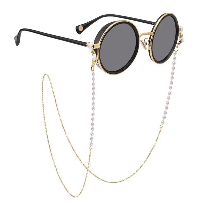 Имитация очки с жемчугом цепи маска ремень цепочка для солнцезащитных очков модная Милая Повседневная укороченная обувь