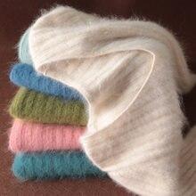 Супер теплый 100% свитер кашемир с норкой и Пуловеры Зимние