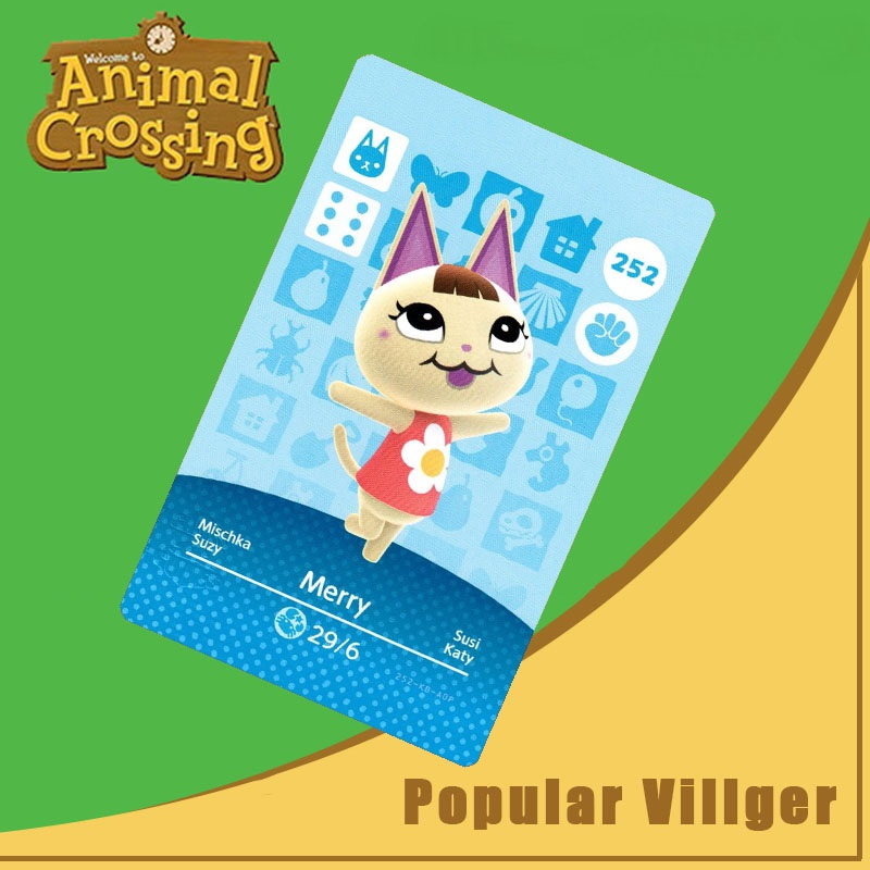 252 Animal Crossing Amiibo Card Merry Amiibo Card Animal Crossing Series 3 Merry Nfc Card Work For Ns Games Dropshipping