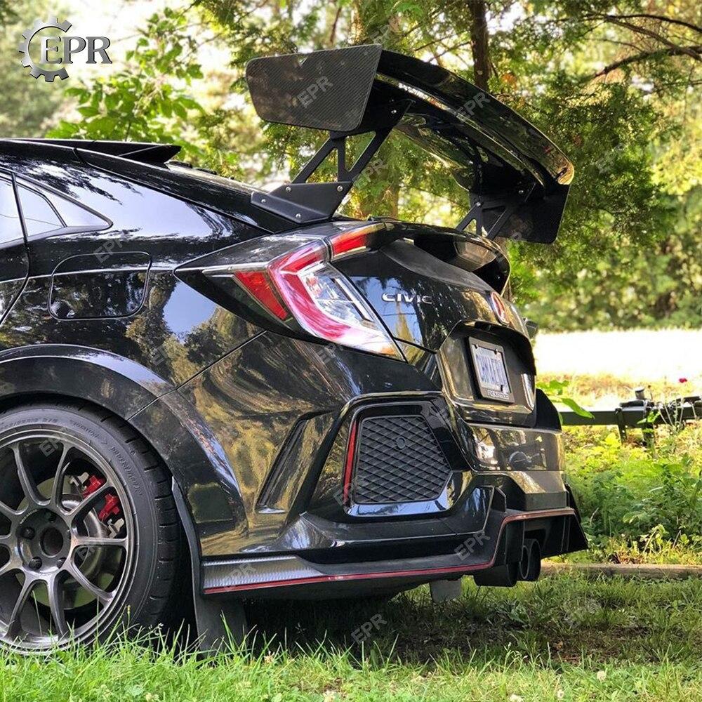 Aile en carbone Foged VTX GT pour Honda Civic FK7 FK8 Type R carbone haché GT aileron Kit de carrosserie garniture de réglage pour FK7 FK8 pièce de course