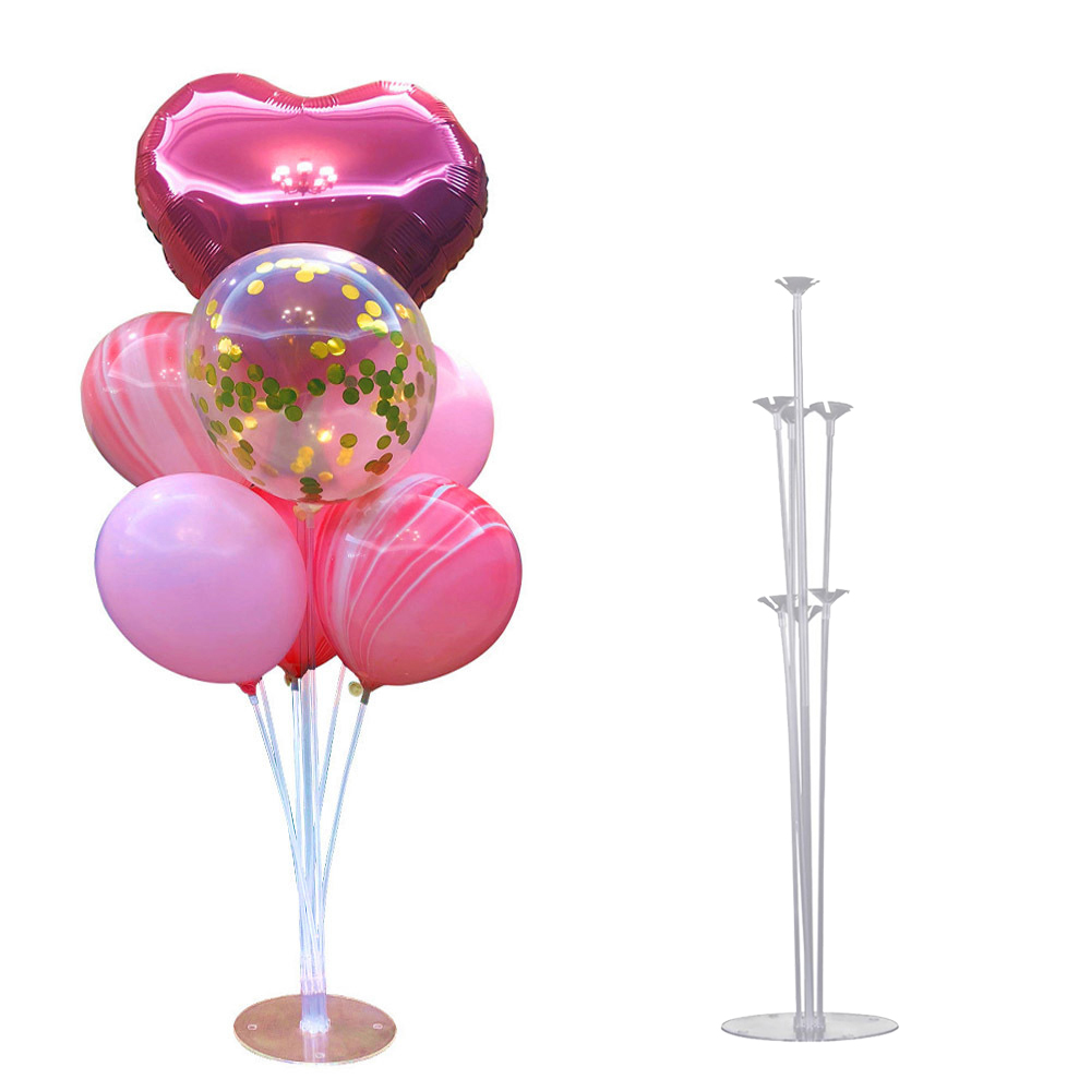 1Set Happy Birthday Balloons Air Balls Stand Stick Baloon Birthday Party Decoration Kids Adult Holder Ballons Accessories Arch