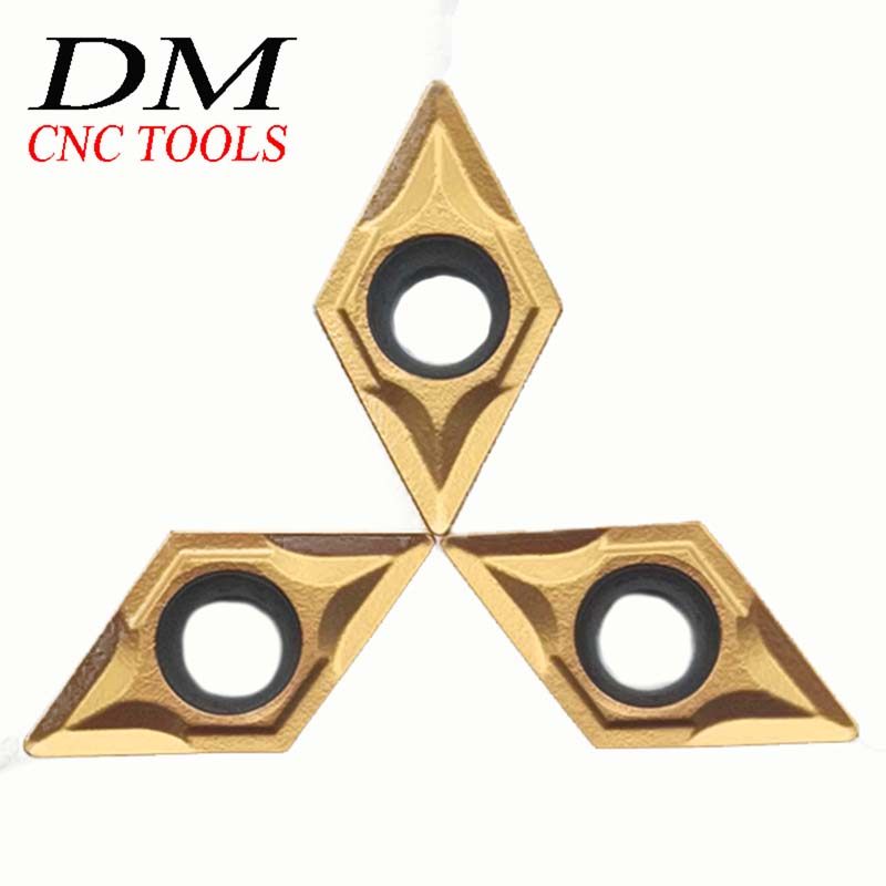 10pcs DCMT070204 UE6020/US735/VP15TF DCMT21.51 Inserts For Tungsten Carbide Internal Turning Accessories Tools CNC Tools