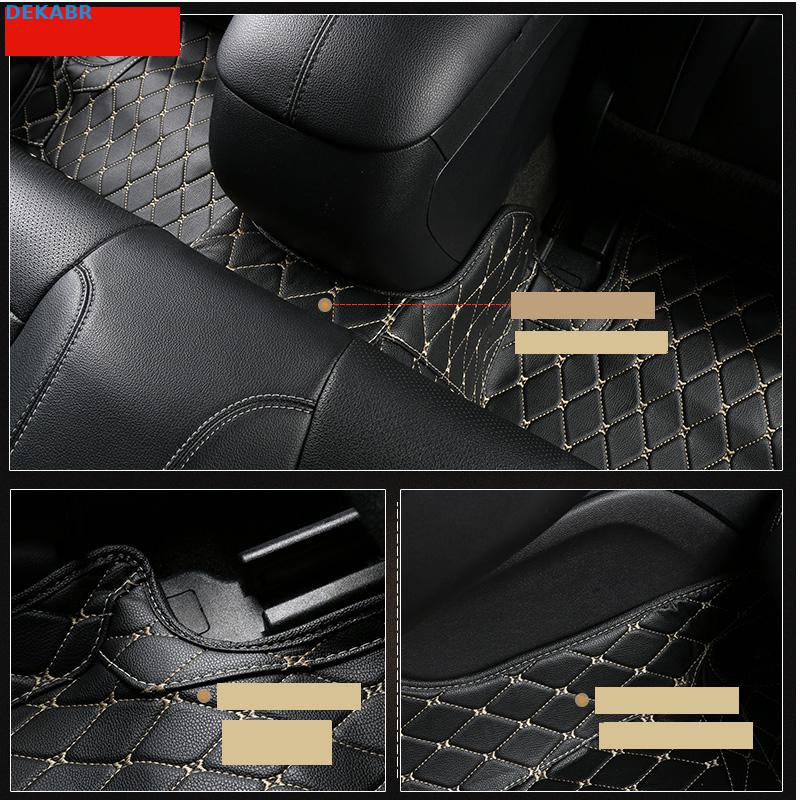 HighQual fiber leather car floor mats for ford mustang 2015 2016 2017 2018 2019 accessories - 3