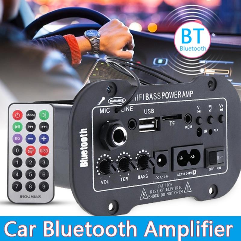 12V 24V 220V Bluetooth 5.0 High Power Digital Amplifier Stereo Board AMP Amplificador Audio Home Theater AMP MIC SD USB DVD