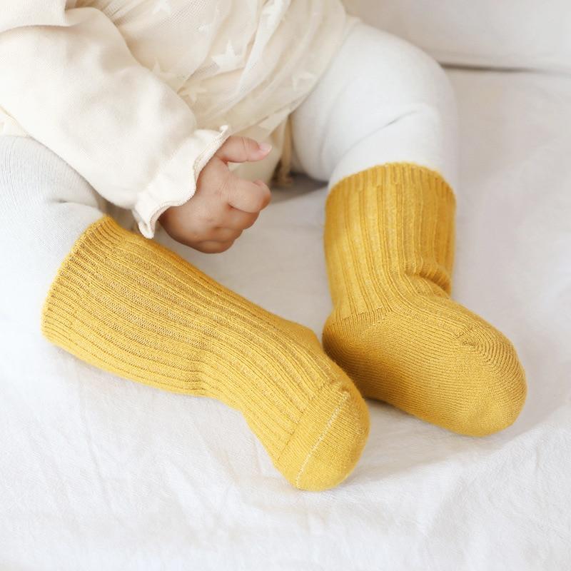 Thicken Baby Kids Socks Autumn Winter Cotton Striped Socks Warm Toddler Boy Girls Floor Socks Children Clothing Accessories 2
