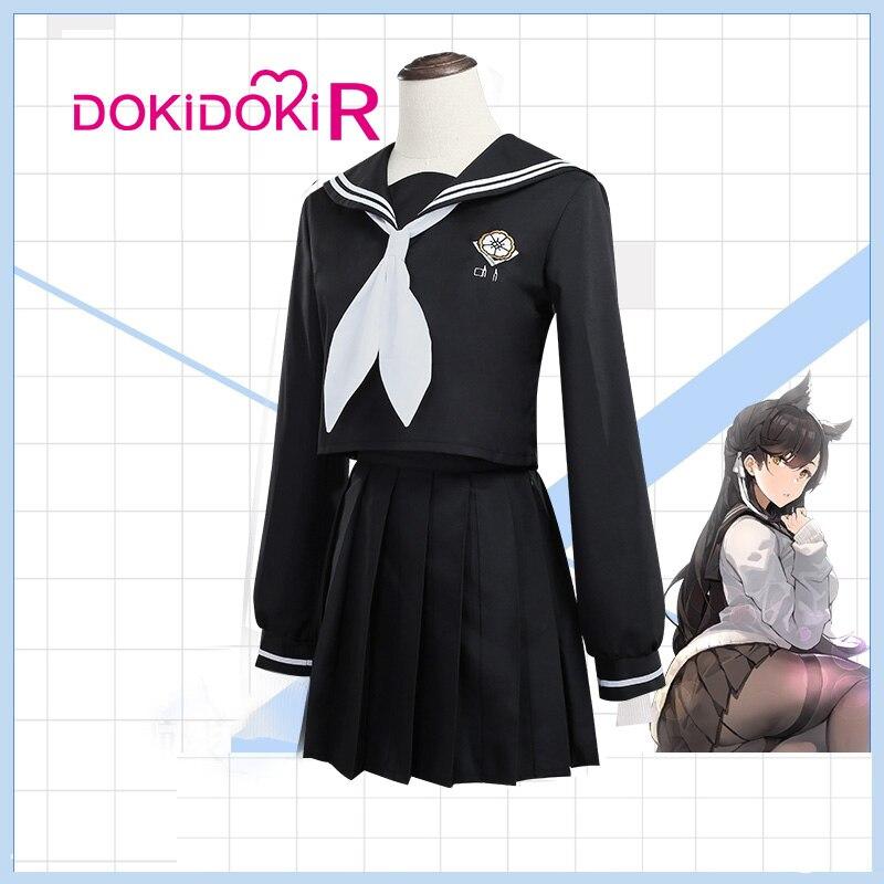 DokiDoki-R Game Cosplay Azur Lane IJN Atago JK Uniform Costume Women Cute Kawaii Suits Azur Lane IJN Atago Cosplay Costume 2