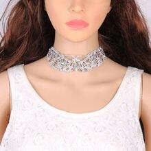 Изящные Роскошные женские ожерелья Чокеры сверкающие стразы