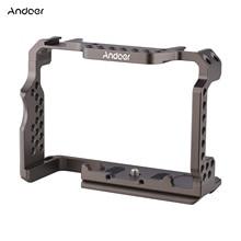 Andoer Aluminium Legierung Kamera Käfig Video Rig mit mit 1/4-zoll und 3/8-zoll themen Ersatz für Sony a7R III/ A7 II/ A7III