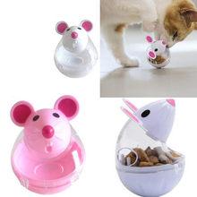 1pc animal de estimação alimentador gato brinquedo ratos alimentos rolamento vazamento dispensador tigela jogando treinamento engraçado brinquedos para gato gatinho gatos brinquedo para animais de estimação suprimentos