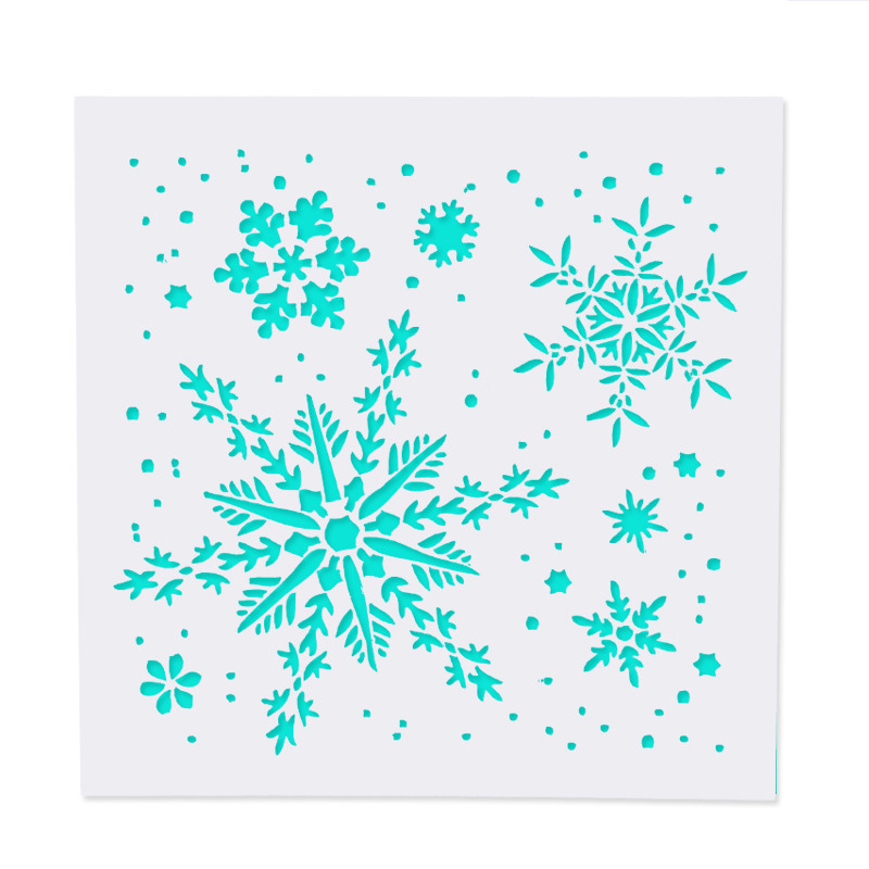 Snowflake DIY Craft Hollow Layering Stencils For Wall Painting Scrapbooking Stamp Album Decorative Embossing Paper Card