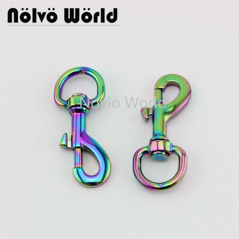 Wholesale 500pcs, 55*15mm, Rainbow High Fashion Metal Buckle Handbag Purse Snap Hook Lobster Buckle Diy Clasp Hooks