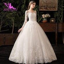 AIJINGYU 2021 2020 eleganckie nowe świetnie sprzedające się tania piłka suknia lace up powrót formalna suknia ślubna panny młodej WK380