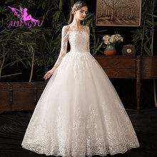 AIJINGYU 2021 2020 elegant new hot selling cheap ball gown lace up back formal bride dresses wedding dress WK380