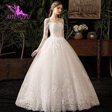 AIJINGYU 2021 nuevo superventas elegante vestido de baile barato con cordones en la espalda vestidos formales de novia vestido de boda WK380