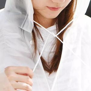 Image 3 - Xiaomi Raincoat and Waterproof Hooded EVA Rain Jacket Poncho Outside Hiking Rainwear Uniform code Women Men Waterproof Rainwear