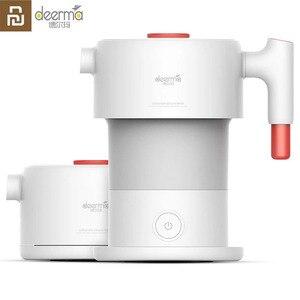 Image 1 - Портативный складной электрический чайник Youpin Deerma, 0,6Л, портативная электрическая колба для воды, автоматический чайник с защитой от отключения