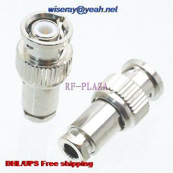 DHL/EMS 100pcs Connector miniBNC male plug clamp RG174 RG316 LMR100 cable Straight -A3