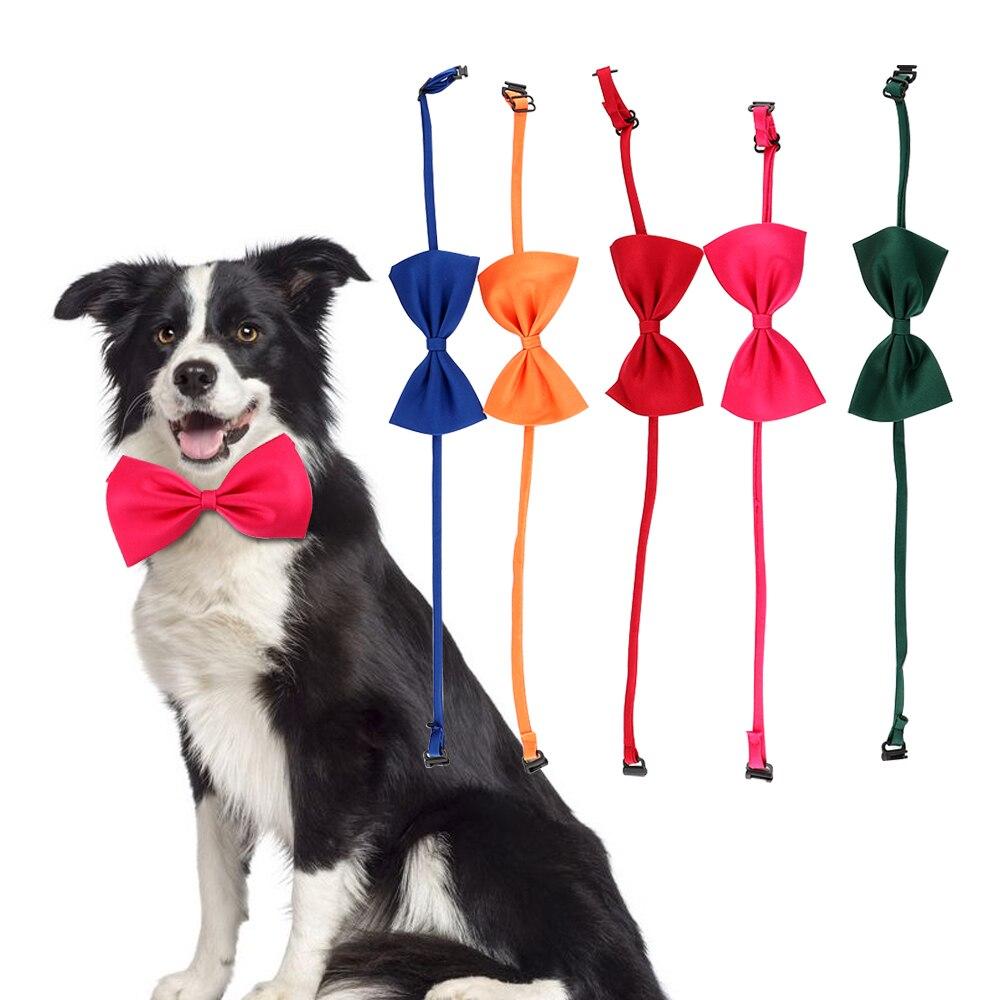 Necktie Clothes Puppy Pets Neck Tie Adjustable Neck Strap Pet Cat Dog Collar Bow Tie Cat Dog Grooming Accessories