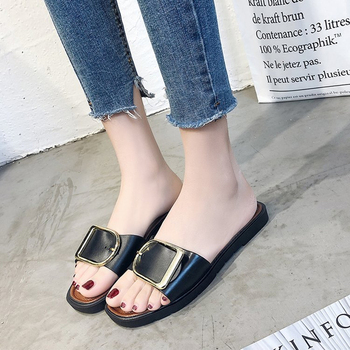 Women Flats Slippers Ladies Fashion Casual Sandals Women Classics Slides Summer Outside Flat With Shoes Size Smaller