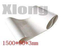 1500x50x3mm PVC White Transmission Conveyor Belt Industrial Belt Flat line Food Grade Belt