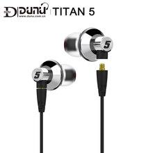 Dunu titan 5 titan5 titan 5 티타늄 다이어프램 동적 고 충실도 hifi 내부 이어폰