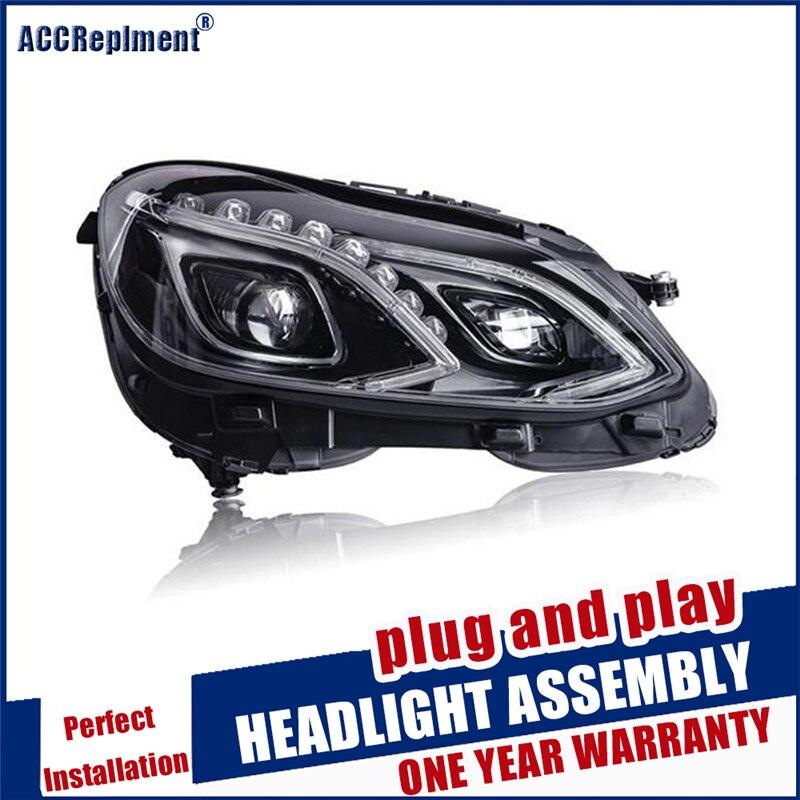Estilo do carro para w212 lâmpada de cabeça led para benz e180 e200 e260 e300 led farol 2014 2015 para e class led drl hid bi xenon lente - 5