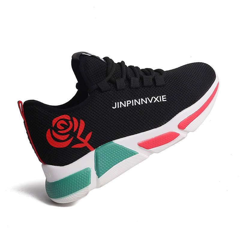 New Stylish Woman Running sneakers Increasing High Heel Sneakers Women Height Platform Breathable Sports Walking Girls