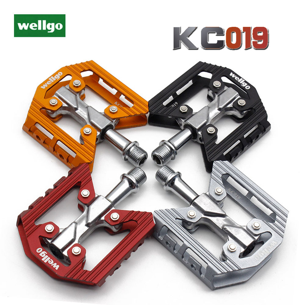 "Red Wellgo M111 Aluminum 9//16/""  MTB Sealed Bearing Pedals"