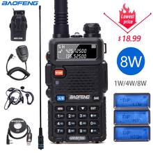 Baofeng UV-5R 8w alto poderoso 10km de longa distância walkie talkie tri-power 8/4/1watts cb ham rádio portátil uv5r para a caça rádio