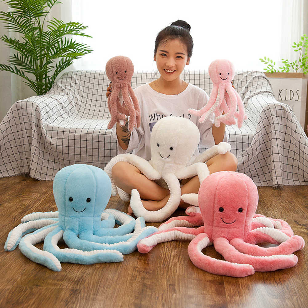 25CM/45CM Lovely Simulation octopus Pendant Plush Stuffed Toy Soft Animal Home Accessories Cute Animal Doll Children Gifts