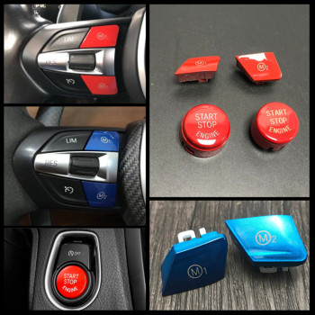 Car Steering Wheel M1 M2 Mode Switch Button For BMW M3 M4 M5 M6 X5M X6M F80 F82 F83 F10 F15 F16 F21 F30 F32 F33 F36 F06 F12 image