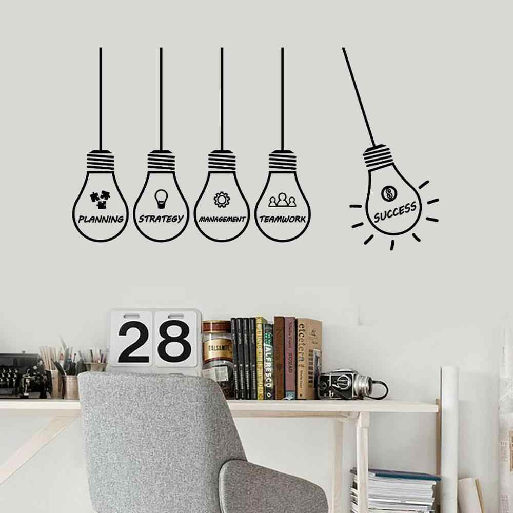 Wall Decal Office Idea Strategy Management Success Lamp Vinyl Wall Stickers Creative Interior Decoration Window Art Mural S1276 Aliexpress