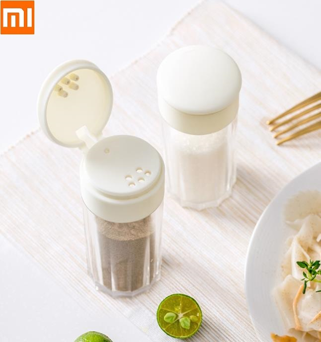 Spice Jar With Holes Salt MSG Seasoning Box Kitchen Jar Home Transparency Spreading Bottle Kitchen Bottling