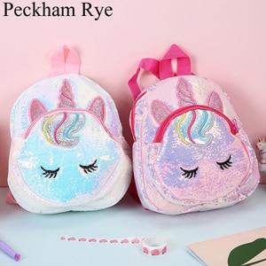 New Unicorn Sequins Kids Bag L