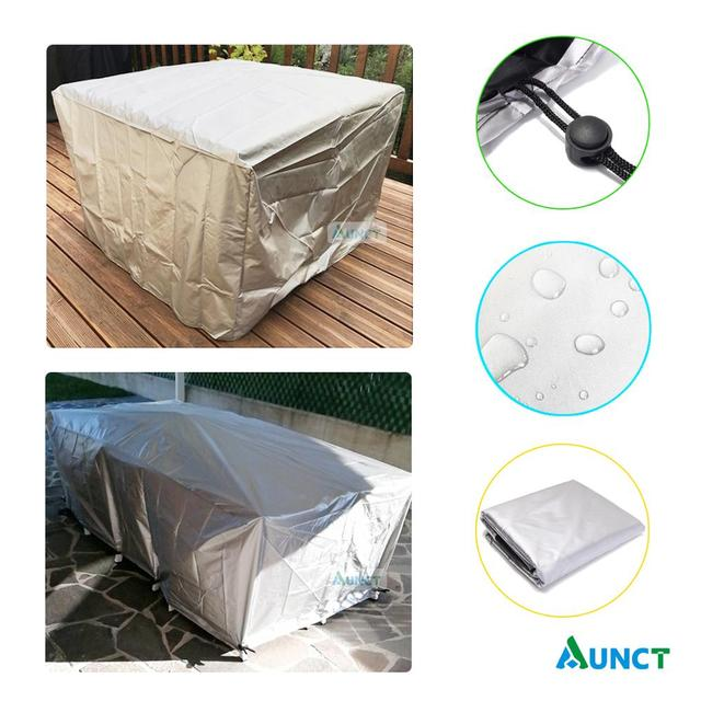 Waterproof Outdoor Patio Garden Furniture Covers Rain Snow Chair covers for Sofa Table Chair Dust Proof Cover 2