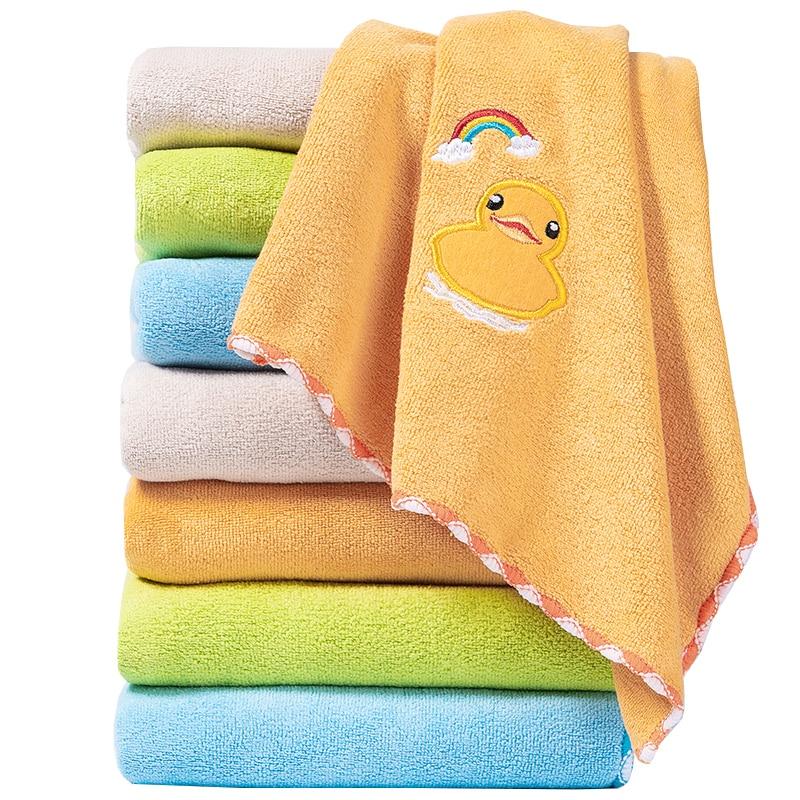 ZhangJi Microfiber Fabric Cartoon Rainbow Animals Multipurpose Towel Quick-drying Absorbent Durable Soft Towel 75*35cm