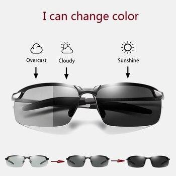 ZUEE vintage Sunglasses Mens Polarized Chameleon Glasses Day and Night Driver oversized sunglasses men polarized