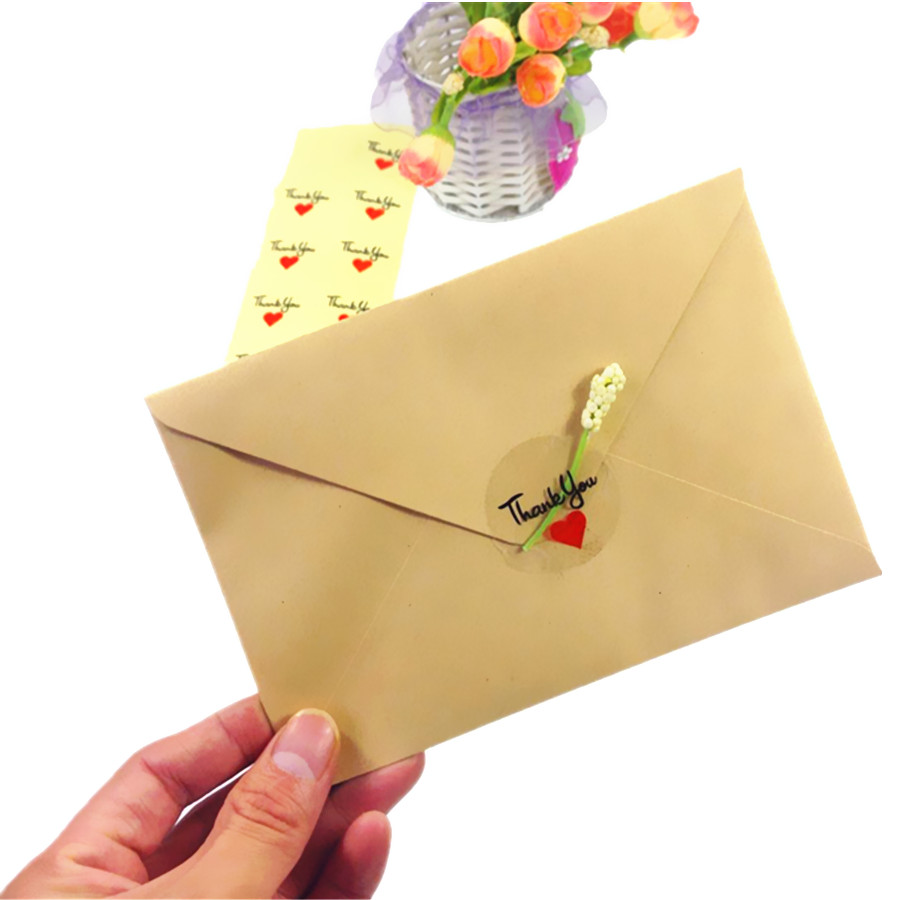 vermelho obrigado bolo embalagem de vedação etiqueta diy presente adesivos