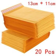 20 PCS/lot 110*130mm Kraft Paper Bubble Envelope Bags Mailer