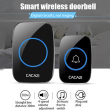 LED Smart Doorbell Waterproof 300M Remote Mini Wireless Door bell 36 Chimes 20-85dB EU/UK/US plug Door Ring цена