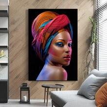 Привлекательный макияж африканские фотообои с красными губами