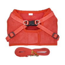 Corduroy Breast Dogs Strap Adjustable Breathable Mesh Pet Dog Nylon Vest Breast-band Puppy Halter Chest Traction Supply