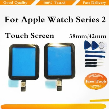 S2 Outer Screen For Apple Watch Series 2 38mm 42mm Digitizer Sensor Front Touch Panel LCD Display Out Glass Repair Replace Parts image