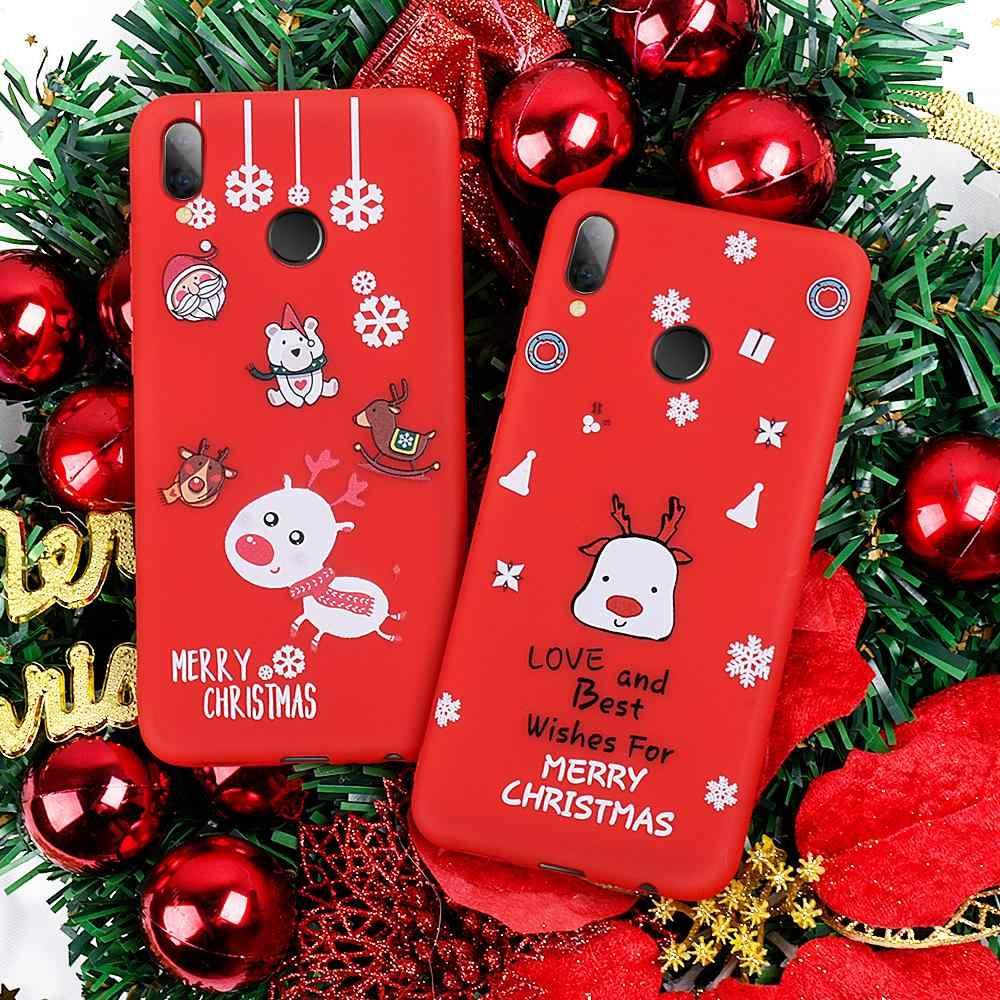Мягкий Силиконовый Футляр для телефона из ТПУ с рождеством, Санта-Клаусом, новый год для Xiaomi Redmi Note 7 6 Pro K20 mi 9 SE 9T Pro Coque