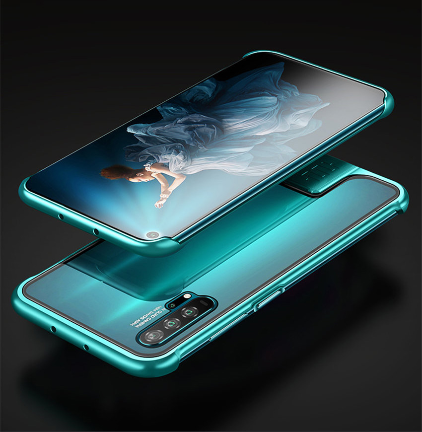 R-just Borderless Series Metal Frame Phone Case For Huawei Honor 20 Protect Case Glass Back Cover Cases For Huawei Honor 20 Pro (5)